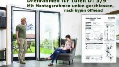 Fliegengittertüre Drehrahmen für Türen mit herunterhängendem Rollladenpanzer - DT 3/9 von MHZ Neher Technology