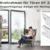 Fliegengittertüre Drehrahmen für Stulptüren mit Mauerleibung - DT 3/16 von MHZ Neher Technology