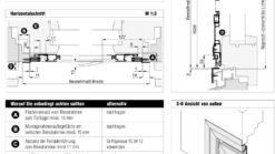 Drehtür Rollladenpanzer DT 4/19 Aufmaßanleitung Überblick