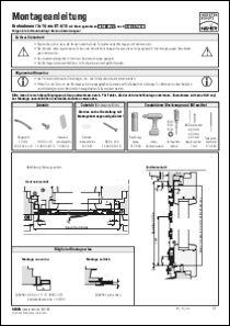 Drehtür Rollladenpanzer DT 4/19 Montageanleitung anzeigen