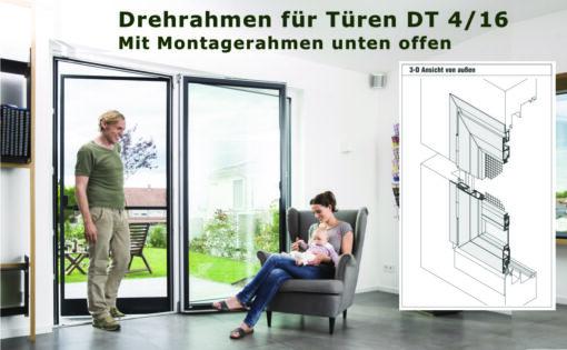 Fliegengittertüre Drehrahmen für Türen mit wenig Platz zwischen Türflügel und Rollladenpanzer - DT 4/16 von MHZ Neher Technology