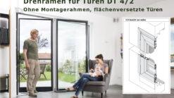 Fliegengittertüre Drehrahmen für flächenversetzte Türen mit eng anliegendem Rollladenpanzer - DT 4/2 von MHZ Neher Technology