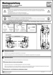 Fliegengitter Montageanleitung SP 1/43 anzeigen