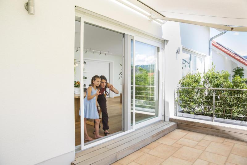 Fliegenschutz für die Balkontüre