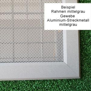 Lichtschachtabdeckung Gewebe Aluminium-Streckmetall
