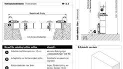 Lichtschachtabdeckung Lisa 3-seitige Auflage Montage