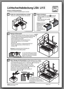 Lichtschachtabdeckung Montageanleitung Lisa 1/3