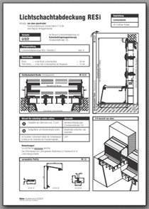 Lichtschachtabdeckung RESi LI 2/2 Aufmassanleitung anzeigen