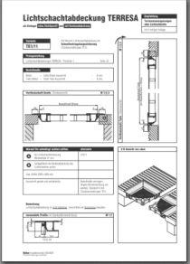 Lichtschachtabdeckung Terresa TE 1/11 Aufmassanleitung anzeigen