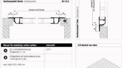 Lichtschachtabdeckung Terresa TE 1/11 Montage Überblick
