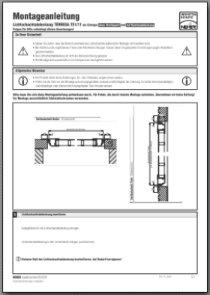 Lichtschachtabdeckung Terresa TE 1/11 Montageanleitung anzeigen