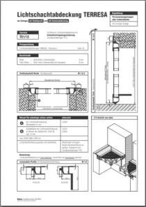 Lichtschachtabdeckung Terresa TE 1/12 Aufmassanleitung anzeigen