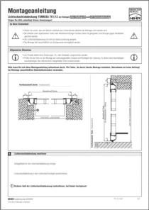 Lichtschachtabdeckung Terresa TE 1/12 Montageanleitung anzeigen