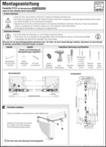 Pendeltüre PT 2/46 Montageanleitung anzeigen