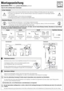 SP 2/1 Montageanleitung anzeigen