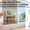 Schiebeanlage ST 3/51 AMB seitlich geschlossen