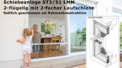 Schiebeanlage ST 3/51 LMM seitlich geschlossen