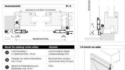 Schiebetuere ST3/1 Aufmaßanleitung Überblick