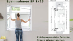 Spannrahmen 1/25 flächenversetzte Fenster
