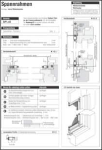 Spannrahmen SP 1/41 Aufmaßanleitung anzeigen