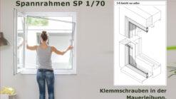 Spannrahmen SP 1/70 mit Klemmschrauben Mauerleibung