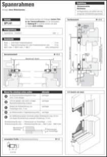 Spannrahmen SP 2/12 Aufmaßanleitung anzeigen