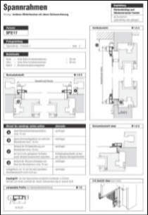 Spannrahmen SP 2/17 Aufmaßanleitung anzeigen