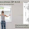 Insektenschutz-Spannrahmen für flächenbündige und flächenversetzte Fenster mit schrägem Blendrahmenüberschlag und seitlich rechts enger Rollladenführungsschiene - SP 4/12 von MHZ Neher Technology