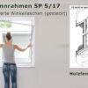 Insektenschutz-Spannrahmen für Holzfenster mit Regenschiene ohne überstehende Blendrahmenabdeckung und eng anliegendem Rollladenpanzer - SP 5/17 von MHZ Neher Technology